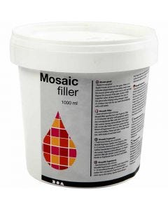 Mosaic Filler, white, 1000 ml/ 1 bucket