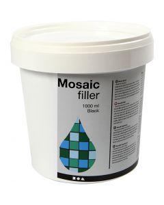 Mosaic Filler, black, 1000 ml/ 1 bucket