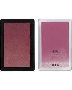 Ink Pad, H: 2 cm, size 9x6 cm, dark rose, 1 pc