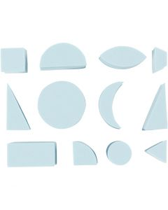 Foam Stamps, H: 25 mm, size 15-30 mm, 12 pc/ 1 pack