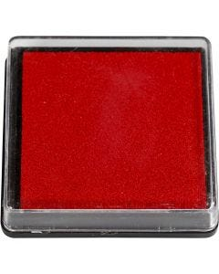 Ink Pad, size 40x40 mm, red, 1 pc