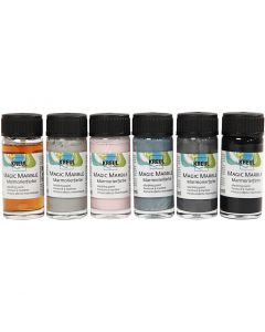 Magic Marble , mute colours, 6x20 ml/ 1 pack