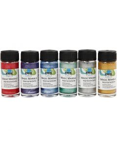 Magic Marble , metallic colours, 6x20 ml/ 1 pack