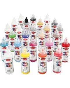 Viva Decor Window Color, assorted colours, 25x90 ml/ 1 pack