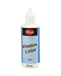 Viva Decor Window Color, white, 80 ml/ 1 bottle