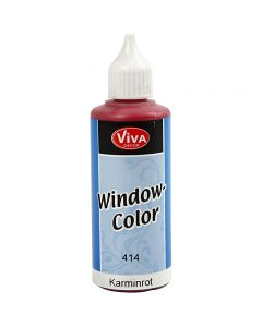 Viva Decor Window Color, carmine red, 80 ml/ 1 bottle