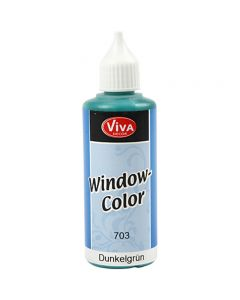 Viva Decor Window Color, dark green, 80 ml/ 1 bottle