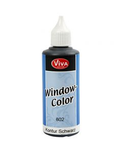 Viva Decor Window Color - Contour, black, 80 ml/ 1 bottle