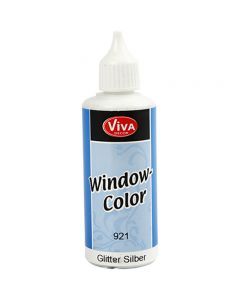 Viva Decor Window Color, glitter silver, 80 ml/ 1 bottle