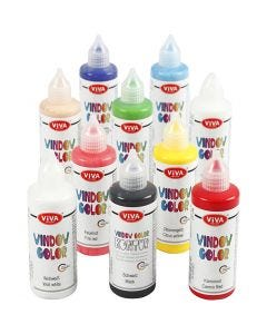 Viva Decor Window Color, assorted colours, 10x90 ml/ 1 pack