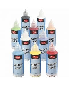 Viva Decor Window Color, assorted colours, 10x80 ml/ 1 pack