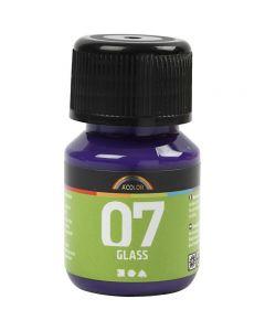 A-Color Glass Paint, red violet, 30 ml/ 1 bottle