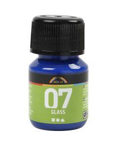 A-Color Glass Paint, brilliant blue, 30 ml/ 1 bottle