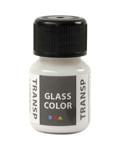 Glass Color Transparent, white, 30 ml/ 1 bottle