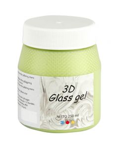 3D Glass Gel, light green, 250 ml/ 1 tub