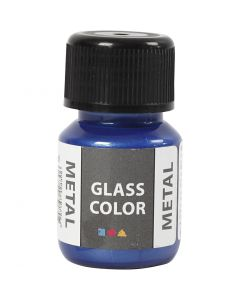 Glass Color Metal, blue, 30 ml/ 1 bottle
