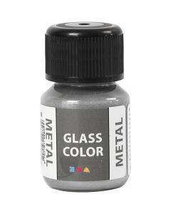 Glass Color Metal, silver, 30 ml/ 1 bottle