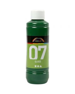 A-Color Glass Paint, brilliant green, 250 ml/ 1 bottle
