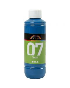 A-Color Glass Paint, turquoise, 250 ml/ 1 bottle