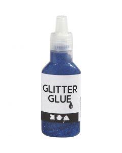 Glitter Glue, dark blue, 25 ml/ 1 bottle