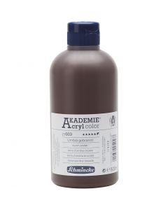 Schmincke AKADEMIE® Acryl color, opaque, burnt umber (669), 500 ml/ 1 bottle