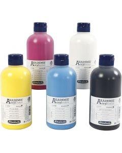 Schmincke AKADEMIE® Acryl color, 5x500 ml/ 1 pack