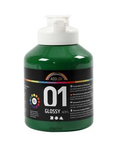 A-Color acrylic paint, glossy, dark green, 500 ml/ 1 bottle