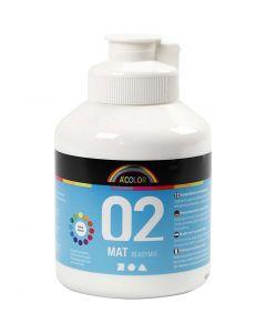 A-Color Acrylic Paint, matt, white, 500 ml/ 1 bottle