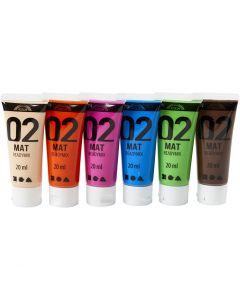 A-Color Acrylic Paint, matt, additional colours, 6x20 ml/ 1 pack