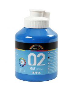 A-Color Acrylic Paint, matt, primary blue, 500 ml/ 1 bottle
