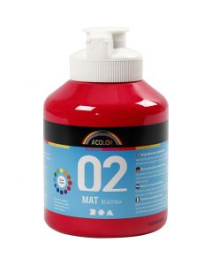 A-Color Acrylic Paint, matt, primary red, 500 ml/ 1 bottle