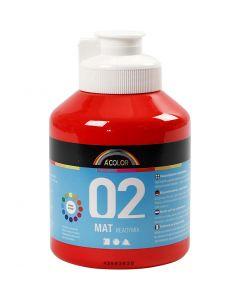 A-Color Acrylic Paint, matt, red, 500 ml/ 1 bottle