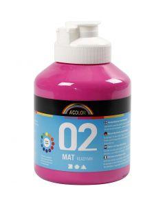 A-Color Acrylic Paint, matt, pink, 500 ml/ 1 bottle
