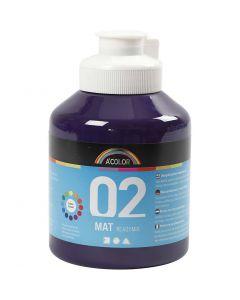 A-Color Acrylic Paint, matt, violet, 500 ml/ 1 bottle