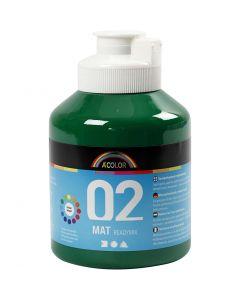 A-Color Acrylic Paint, matt, dark green, 500 ml/ 1 bottle