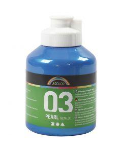 A-Color Acrylic Paint, metallic, blue, 500 ml/ 1 bottle