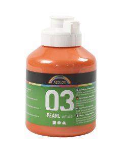 A-Color Acrylic Paint, metallic, orange, 500 ml/ 1 bottle