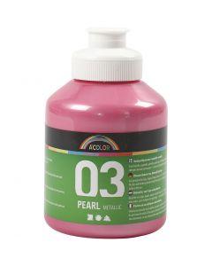 A-Color Acrylic Paint, metallic, light red, 500 ml/ 1 bottle