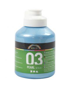 A-Color Acrylic Paint, metallic, light blue, 500 ml/ 1 bottle