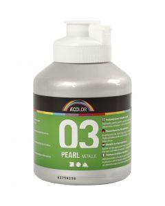 A-Color Acrylic Paint, metallic, silver, 500 ml/ 1 bottle