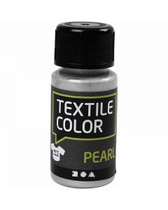 Textile Color Paint, mother of pearl, silver, 50 ml/ 1 bottle