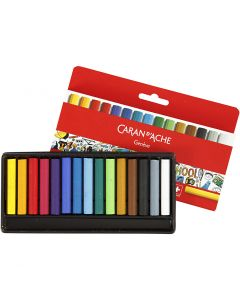Neocolor I Crayons, L: 5 cm, thickness 8 mm, assorted colours, 15 pc/ 1 pack