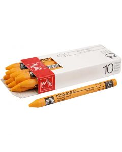 Neocolor I Crayons, L: 10 cm, thickness 8 mm, orange (030), 10 pc/ 1 pack