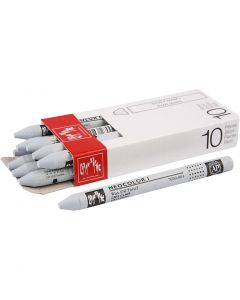 Neocolor I Crayons, L: 10 cm, thickness 8 mm, light grey (003), 10 pc/ 1 pack