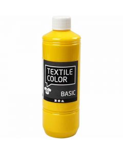 Textile Color Paint, primary yellow, 500 ml/ 1 bottle