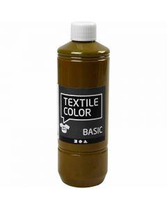 Textile Color Paint, olive-brown, 500 ml/ 1 bottle