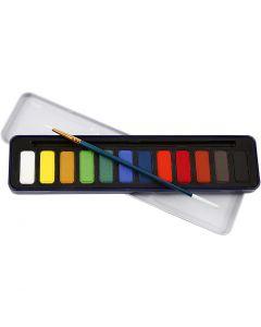 Watercolor Paint Set, size 12x30 mm, 12 colour/ 1 pack