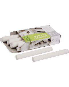 Chalkboard Chalk, L: 8 cm, D: 10 mm, white, 10 pc/ 1 pack