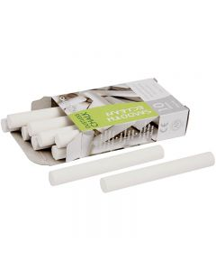 Chalkboard Chalk, L: 8 cm, D: 10 mm, white, 10x10 pc/ 1 pack