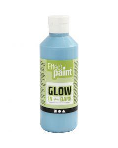 Glow in the Dark Paint, fluorescent light blue, 250 ml/ 1 bottle